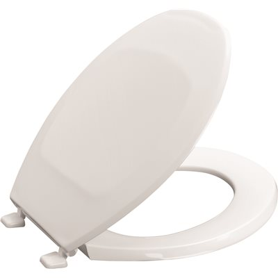 ECONOMY PLASTIC CLOSED ROUND TOILET SEAT WITH COVER WHITE