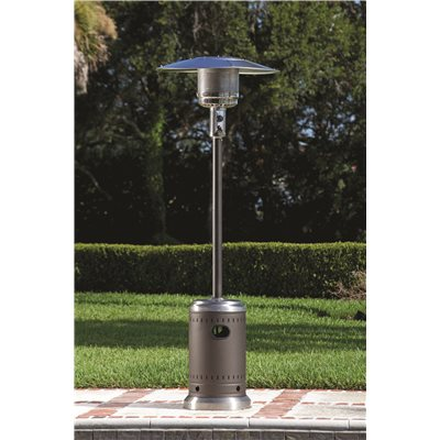 FIRE SENSE® COMMERCIAL PATIO HEATER, MOCHA AND STAINLESS STEEL, 46,000 BTU