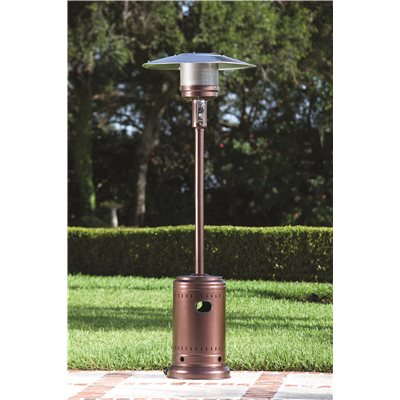 Attirant FIRE SENSE® COMMERCIAL PROPANE GAS PATIO HEATER, HAMMER TONE BRONZE