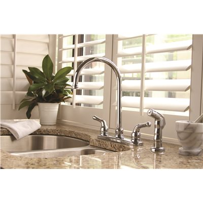 SANIBEL KITCHEN FAUCET CHROME WITH SPRAY