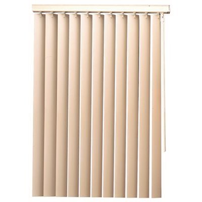 35X60 IN. DESIGNER'S TOUCH 3.5-INCH PVC VERTICAL BLINDS, WHITE