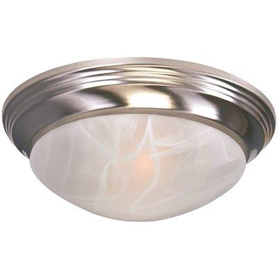 ROYAL COVE FLUSH MOUNT CEILING FIXTURE, BRUSHED NICKEL, 12 X 4-1/4 IN., USES (1) 75-WATT INCANDESCENT MEDIUM BASE LAMP*