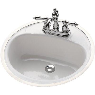 Bootz Industries Part 021 2440 00 Bootz Industries Daffodil Oval Flat Rim Drop In Bathroom Sink In White Bathroom Sinks Home Depot Pro