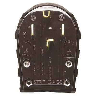 Hubbell Wiring 459315 Range And Dryer Receptacle 50 Amp 3 Pole 4 Wire Black