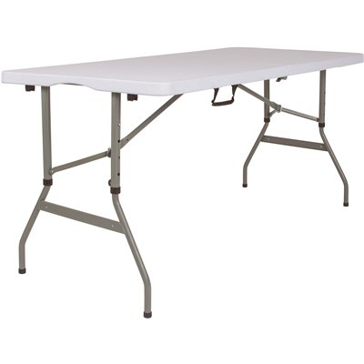National Brand Alternative Part Cga Rb 231465 Gr Hd 60 In Granite White Plastic Tabletop Metal Frame Folding Table Cafeteria Tables Home Depot Pro