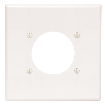 Leviton Part 80526 W Leviton White 2 Gang Single Outlet Wall Plate 1 Pack Outlet Wall Plates Home Depot Pro