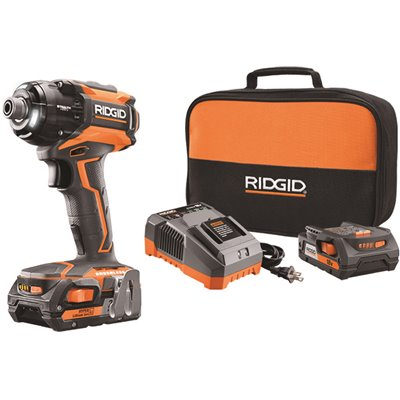 Ridgid Part R86036k Ridgid 18 Volt Stealth Force Lithium Ion Cordless Brushless 1 4 In Pulse Driver Kit Cordless Driver Drills Home Depot Pro