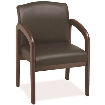Pleasing Lorell Part Llr60471 Lorell Black Deluxe Guest Chair Machost Co Dining Chair Design Ideas Machostcouk