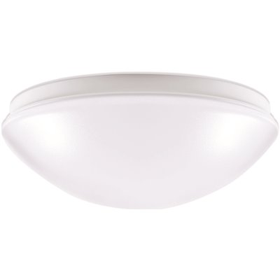 ENVIROLITE LED ROUND FLUSH MOUNT CEILING FIXTURE, WHITE, 11 IN., INTEGRATED LED INCLUDED