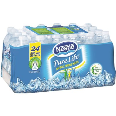 PURE LIFE PURIFIED WATER, READY-TO-DRINK, 16.91 FL. OZ., 24 PER CARTON