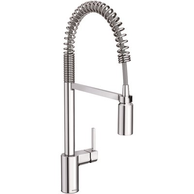 Moen Part 5923 Moen Align Single Handle Pull Down Sprayer Kitchen Faucet With Power Clean And Spring Spout In Chrome Pull Down Spray Kitchen Faucets Home Depot Pro