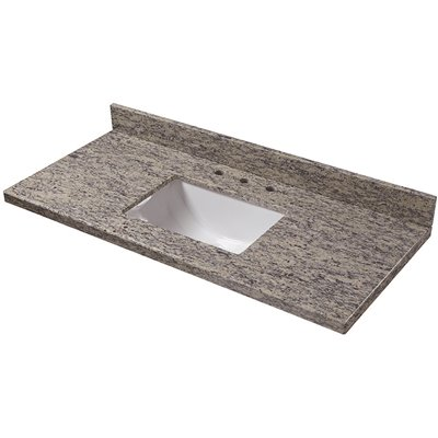 Home Decorators Collection Part 49885 Home Decorators Collection 49 In W X 22 In D Granite Vanity Top In Santa Cecilia Vanity Tops Home Depot Pro