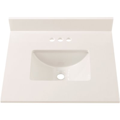 Home Decorators Collection Part 25004 Home Decorators Collection 25 In W Engineered Marble Single Sink Vanity Top In Winter White Vanity Tops Home Depot Pro