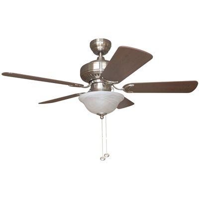 Bala part bala 42 in brushed nickel dual mount ceiling fan brushed nickel dual mount ceiling fan with bowl light kit aloadofball Choice Image