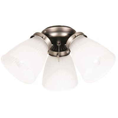 Ellington part eck758an ellington 3 light ceiling fan light kit ellington 3 light ceiling fan light kit with frosted glass antique nickel uses aloadofball Image collections