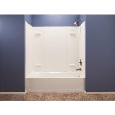 El Mustee Part # 557WHT - Durawall® Fiberglass Bathtub Wall Kit, 5 ...