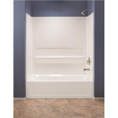 El Mustee Part # 660WHT - Topaz™ Fiberglass Bathtub Wall Kit, Direct ...