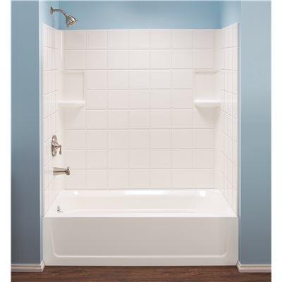 El Mustee Part # 670WHT - Topaz™ Fiberglass Tile Pattern Bathtub ...