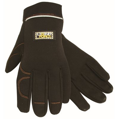 LEGENDFORCE SYNTHETIC LEATHER MECHANIC GLOVES, HOOK AND LOOP STRAP, EXTRA LARGE