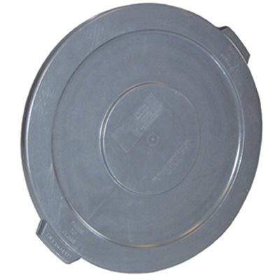 Appeal 55 Gal Gray Round Trash Can Lid