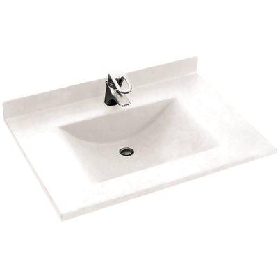 Swan Surfaces Part CV Swan Contour In W X In D - 31 bathroom vanity with top