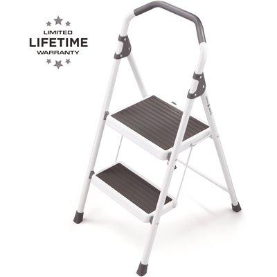 Gorilla Ladders Part Gls 2 2 Gorilla Ladders 2 Step Steel Lightweight Step Stool Ladder 225 Lbs Load Capacity Type Ii Duty Rating Step Ladders Stools Home Depot Pro