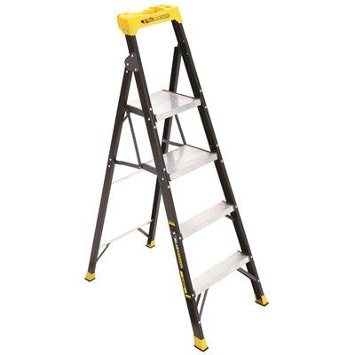 Gorilla Ladders 5 5 Ft Fiberglhybrid Ladder With 250 Lbs Load Capacity Type I