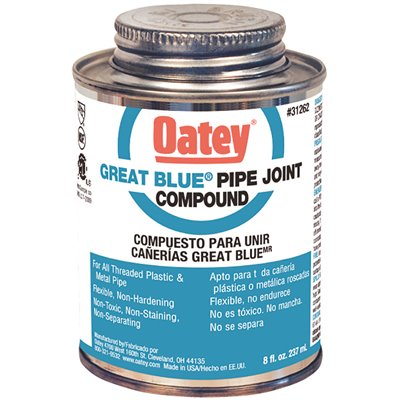 Oatey Part 31262 Oatey Great Blue 8 Oz Pipe Joint Compound Plumbing Sealants Home Depot Pro