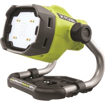 Ryobi Part P795 Ryobi One 18 Volt Hybrid Led Color Range Work Light Tool Only Area Spotlights Home Depot Pro
