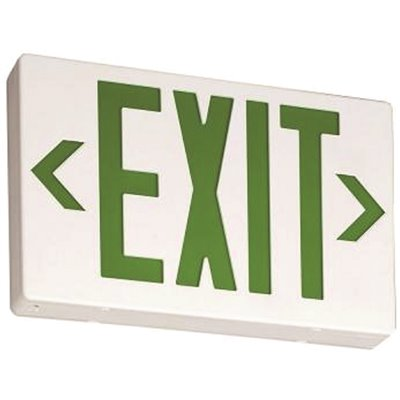HUBBELL LIGHTING COMPASS Exit Sign// Battery Backup