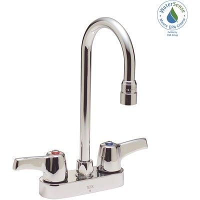 Delta Part 27c4843 Delta 2 Handle Standard Kitchen Faucet With Gooseneck Spout In Chrome Food Service Kitchen Faucets Home Depot Pro