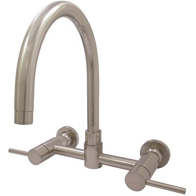 Kingston Brass Part Hks8178dl Kingston Brass Concord 2 Handle Wall Mount Standard Kitchen Faucet In Brushed Nickel Two Handle Kitchen Faucets Home Depot Pro