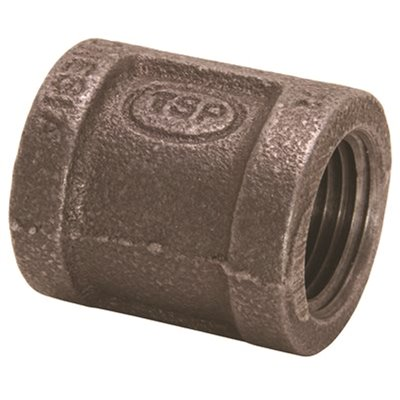 3//4 x 1//2 Black Coupling Pack of 50 Domestic
