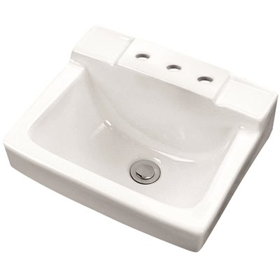 Gerber Part G0012354 Gerber West Point 12 In Space Saver Wall Hung Sink Basin In White Bathroom Sinks Home Depot Pro
