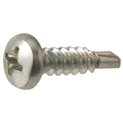 Everbilt Part 801032 Everbilt 8 X 1 2 In Phillips Pan Head Zinc Plated Sheet Metal Screw 100 Pack Self Tapping Screws Home Depot Pro