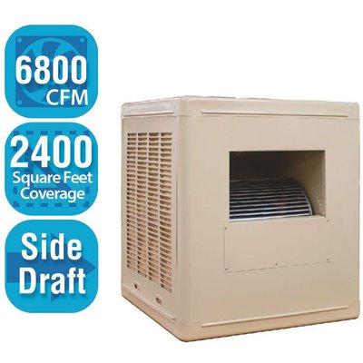 Hessaire Part A68s B Hessaire 6 800 Cfm Side Draft Aspen Roof Side Evaporative Cooler Swamp Cooler For 2 400