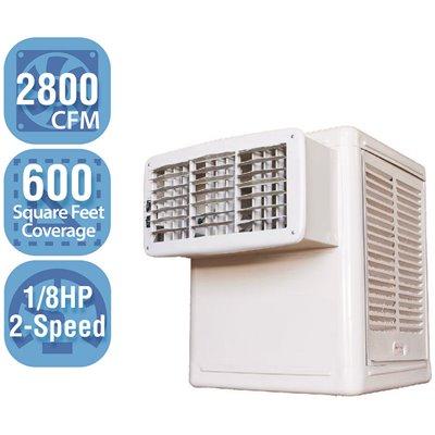 Hessaire Part W28 B Hessaire 2 800 Cfm 115 Volt 2 Speed Front Discharge Window Evaporative Cooler Swamp Cooler