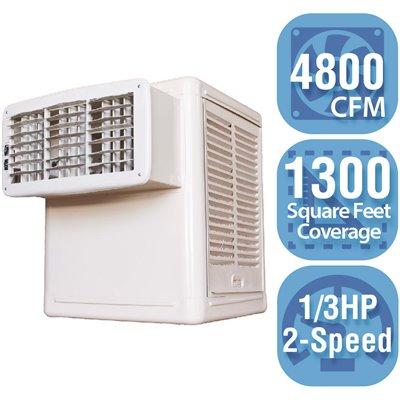 Hessaire Part W48 B Hessaire 4 800 Cfm 120 Volt 2 Speed Front Discharge Window Evaporative Cooler Swamp Cooler