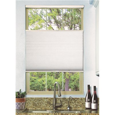 National Brand Alternative Part 2t001 7272 Simply Cut To Size White Cordless Top Down Bottom Up Blackout Single Cell Polyester Cellular Shade 72 In W X 72 In L Cellular Shades Home Depot Pro