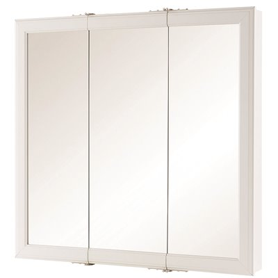 Home Decorators Collection Part 45393 Home Decorators Collection 30 In W X 29 In H Fog Free Framed Surface Mount Tri View Bathroom Medicine Cabinet In White Medicine Cabinets Home Depot Pro