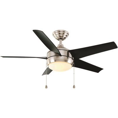 Home Decorators Collection Part 37565 Home Decorators Collection Windward 44 In Led Brushed Nickel Ceiling Fan With Light Kit Ceiling Fans Home Depot Pro