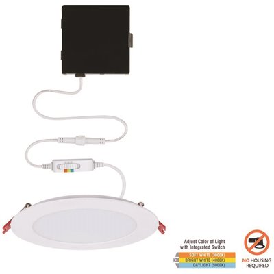 Commercial Electric Part 91477 Commercial Electric Ultra Slim 6 In Color Selectable New Construction And Remodel Canless Recessed Integrated Led Kit Housing Home Depot Pro