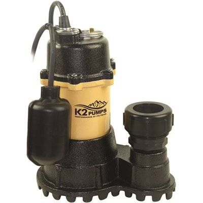 K2 Part Spi05003tpk K2 1 2 Hp Submersible Sump Pump With Tethered Switch Sump Pumps Home Depot Pro