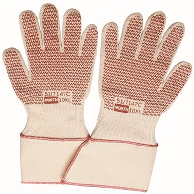 7 Honeywell North Grip N Hot Mill Nitrile Coated Men/'s Heat-Resistant Gloves