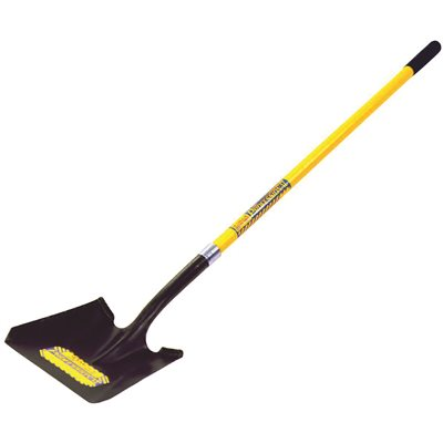 SEYMOUR 40 SERIES SQUARE POINT SHOVEL PROFESSIONAL GRADE WITH 46 IN. FIBERGLASS HANDLE AND PERMA GRIP