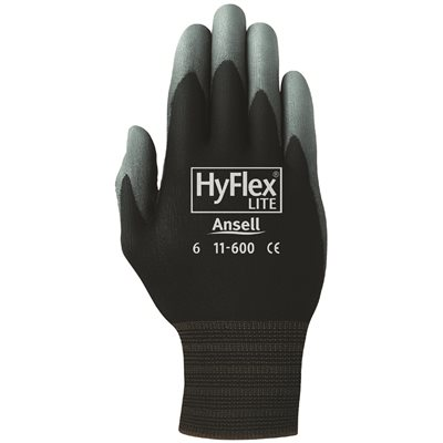 ANSELL HYFLEX LITE DIPPED GLOVES, SIZE 8