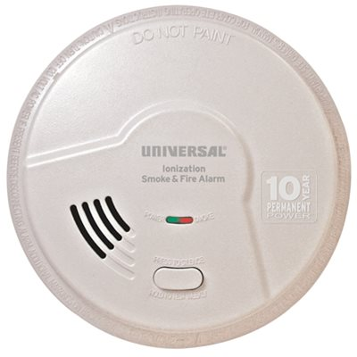 USI SMOKE AND FIRE ALARM, SMART ALARM TECHNOLOGY, 10 YEAR SEALED BATTERY, PHOTOELECTRIC AND IONIZATION
