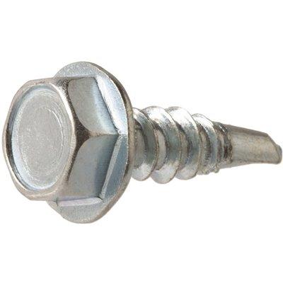 Everbilt Part 801252 Everbilt 10 X 5 8 In Zinc Plated Hex Head Sheet Metal Screw 100 Pack Sheet Metal Screws Home Depot Pro