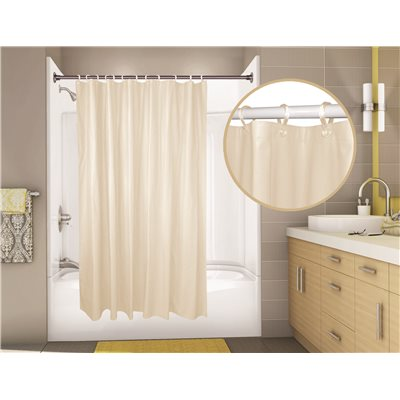 PROPLUS OMEGA VINYL SHOWER CURTAIN 6 FT X CHAMPAGNE