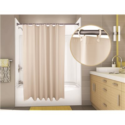 Proplus SUPERSUEDE VINYL SHOWER CURTAIN 6 FT X CHAMPAGNE